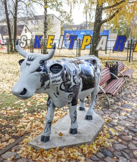 One more cow exhibit in Ventspils