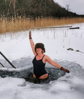 Where to practice winter swimming in Ventspils and how the strong locals of Ventspils combat their winter blues