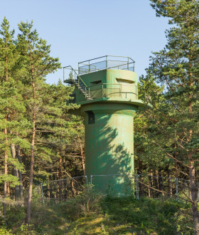 FIRE CORRECTION TOWER OF THE VENTSPILS 46TH COASTAL DEFENCE BATTERY